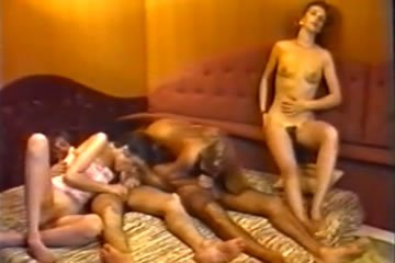 Retro német csoportos szexparti